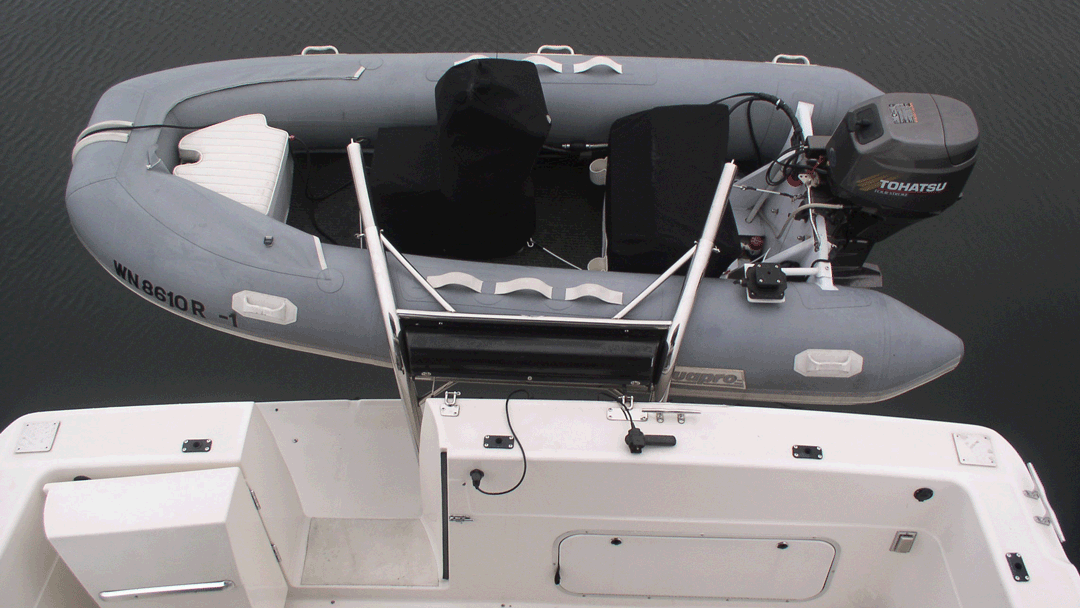 The RS-4 and RS-5 Transom Davit by Olsson MFG.,